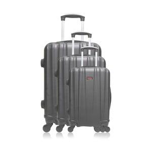 Sada 3 šedých cestovních kufrů na kolečkách Hero Jackson