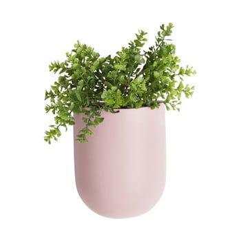 Ghiveci suspendat din ceramică PT LIVING Oval, roz deschis