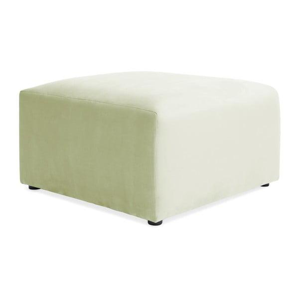 Světle zelená podnožka Vivonita Velvet Cube