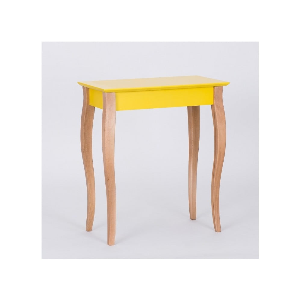 Žlutý odkládací stolek Ragaba Console, délka 65 cm