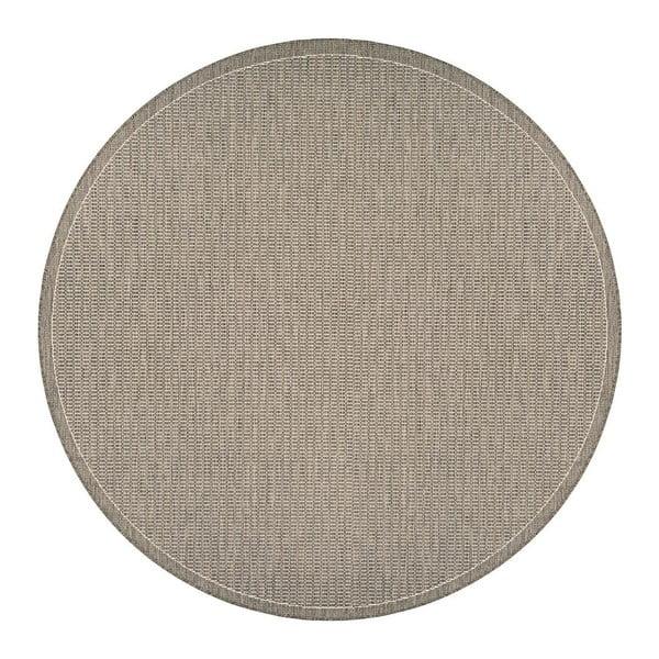 Béžový venkovní koberec Floorita Tatami, ø 200 cm