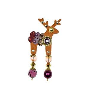 Broșă Deers Orangina, mică, portocaliu