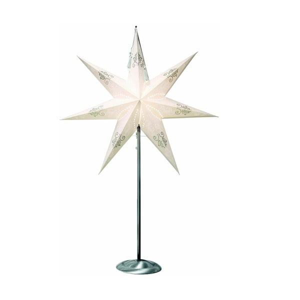 Krémová svítící hvězda se stojanem Best Season Tindra, 88 cm