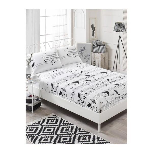 Garriso Samia gumis lepedő egyszemélyes ágyra 2 párnahuzattal, 160 x 200 cm