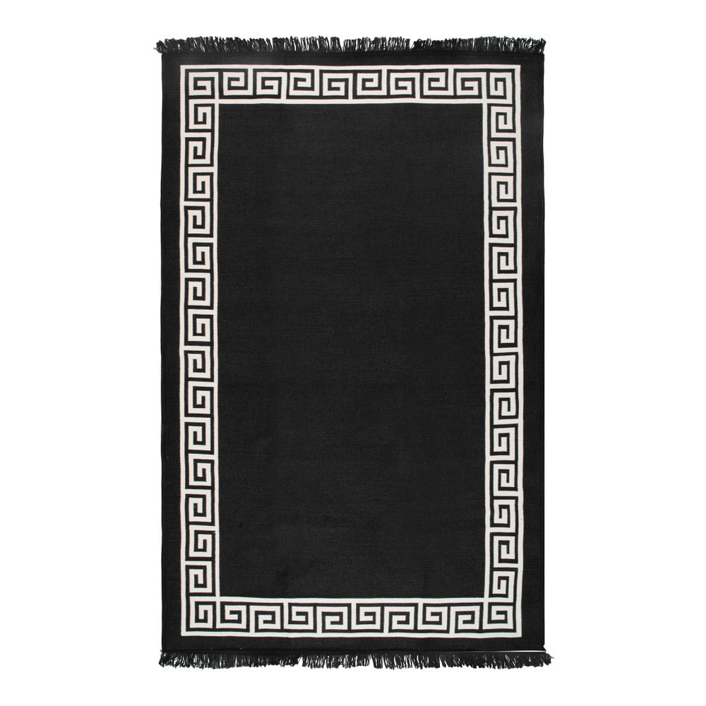 Béžovo-černý oboustranný koberec Justed,140 x 215 cm