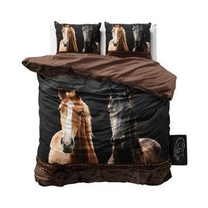 Povlečení z mikroperkálu Sleeptime Horses, 200 x 220 cm