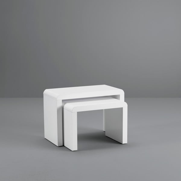 Sada 2 bílých konferenčních stolků Design Twist Cuttack