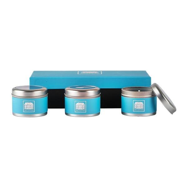 Sada 3 svíček s vůní okurky a vody Villa Collection