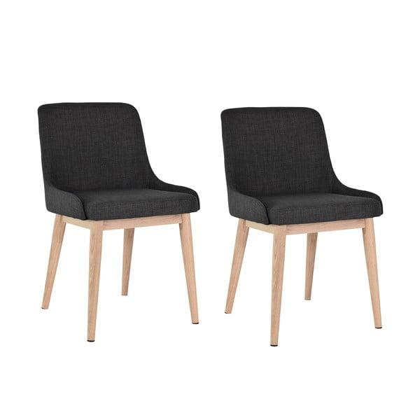 Sada 2 jídelních židlí Edgar, tmavé