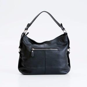 Černá kožená kabelka Pia Sassi Padua