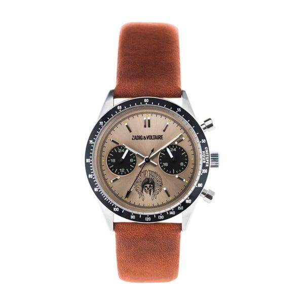 Dámské hodinky s hnědým koženým páskem Zadig & Voltaire Teddy