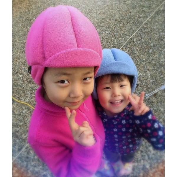 Dětská růžová čepice s ochrannými prvky Ribcap Jackson, vel. L