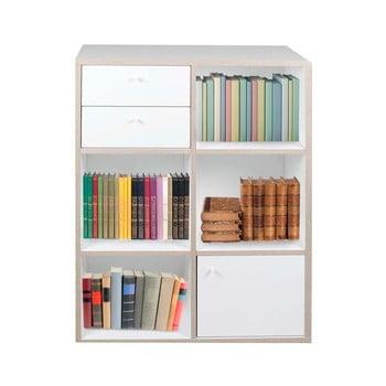 Bibliotecă Evergreen House, 40 x 111 cm, alb