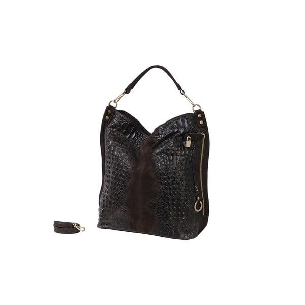 Tmavě hnědá kožená kabelka Andrea Cardone 2011