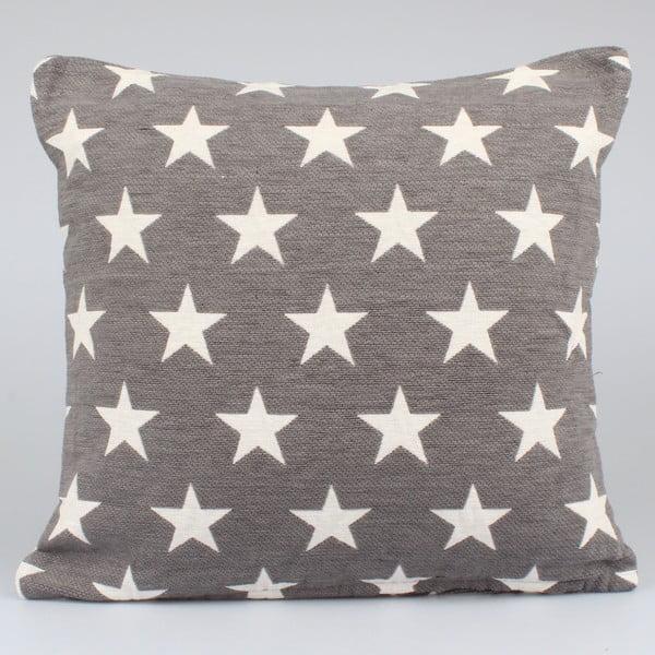 Tmavě šedý povlak na polštář Dakls Stars, 40x40cm