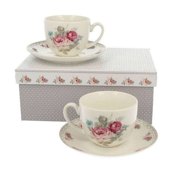 Set 2 porcelánových hrnků Roses