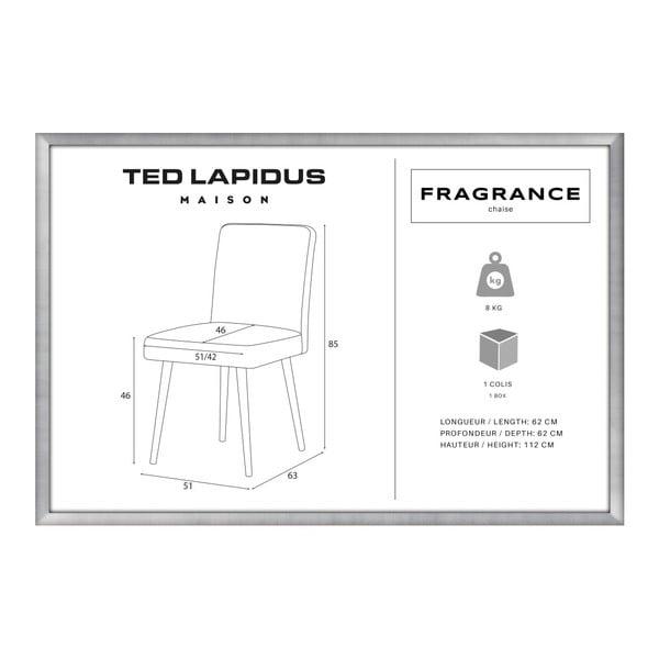 Scaun din lemn de fag Ted Lapidus Maison Fragrance cu picioare negre, verde