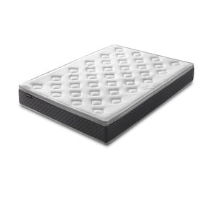 Bílá matrace s šedým okrajem Bobochic Paris Fraicheur,200x200cm