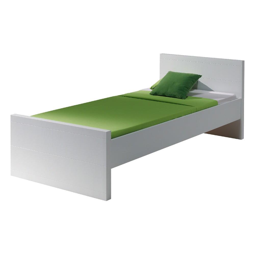 Bílá postel Vipack Lara White, 90 x 200 cm