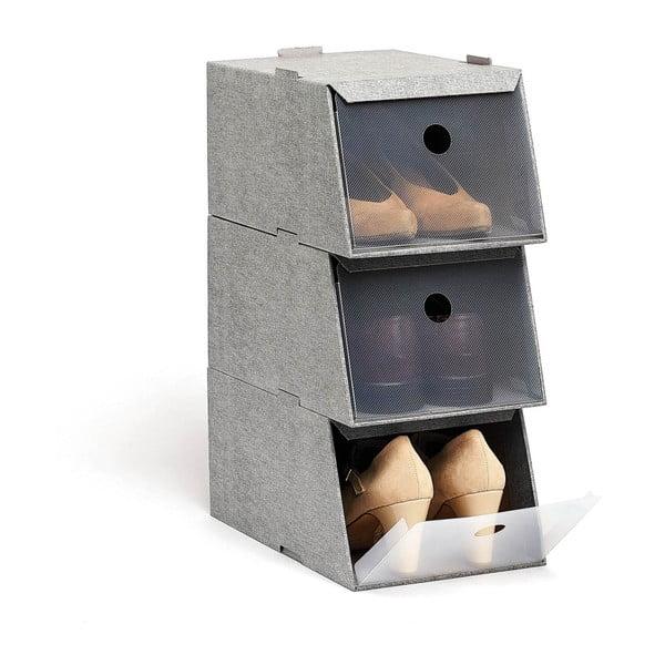Set 3 cutii depozitare pentru pantofi Domopak