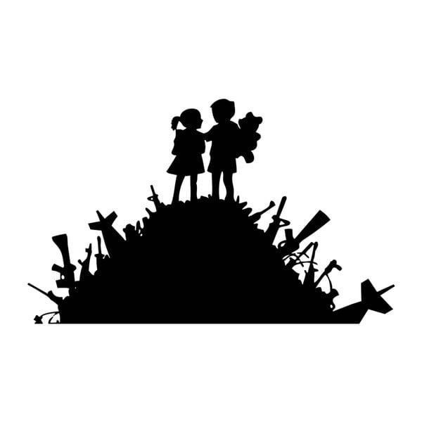Samolepka na zeď Kids in Love by Banksy