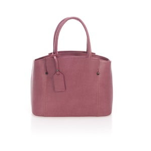 Růžová kožená kabelka Lisa Minardi Halona