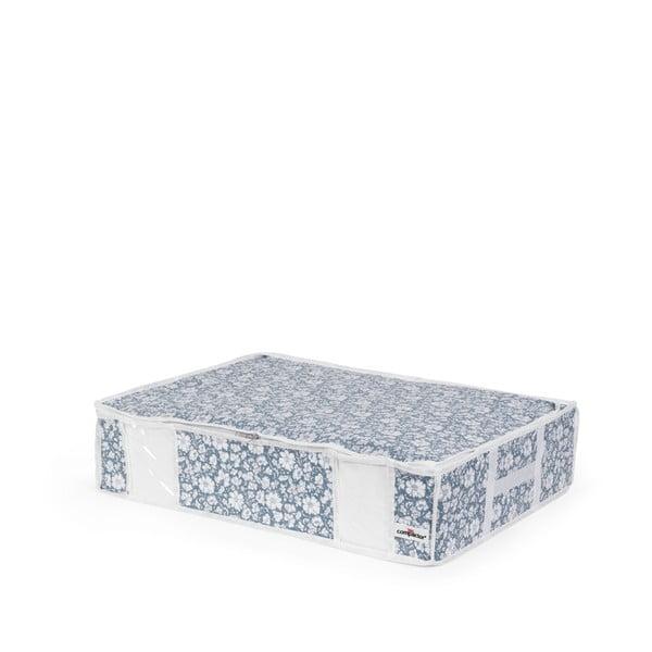 Modrý vakuový úložný box na oblečenie pod posteľ Compactor Signature Vicky 3D Vacuum Bag, 145 l