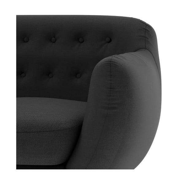 Antracitová sedačka pro tři Wintech Indigo Ornoco
