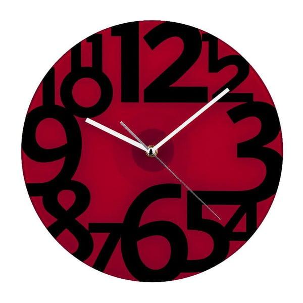 Nástěnné hodiny Red Glam, 31 cm