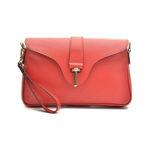 Červená kožená kabelka Anna Luchini Catarina