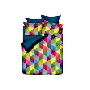 Lenjerie de pat cu cearșaf Hexagon, 200 x 220 cm