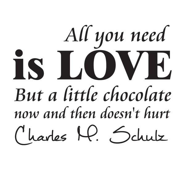 Dekorativní nástěnná samolepka Chocolate