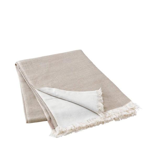Béžový pletený pléd Blomus, 130x180cm