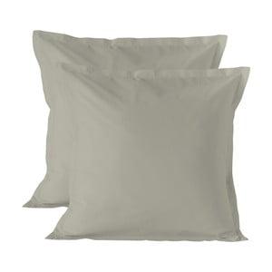 Sada 2 světle hnědých povlaků na polštář HF Living Basic, 60x60cm