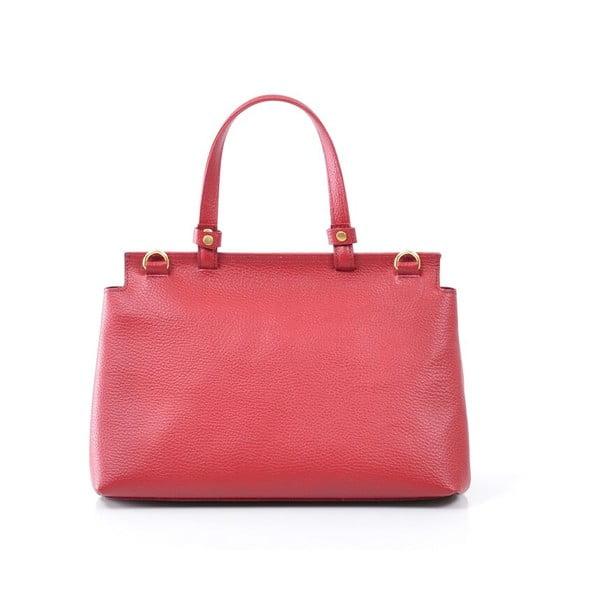 Kožená kabelka Isaure, červená