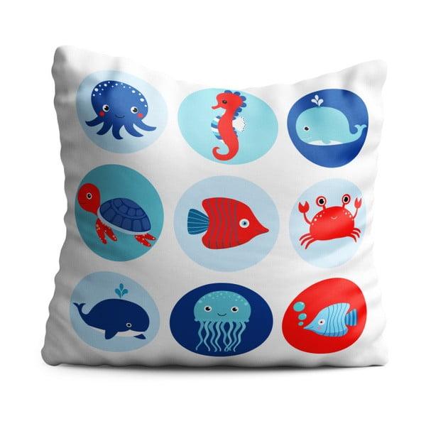 Detský vankúš OYO Kids Sea Creatures, 40 x 40 cm