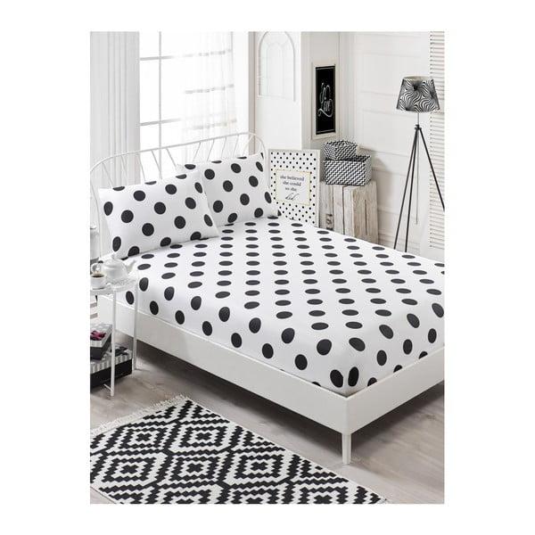 Garriso Masso gumis lepedő egyszemélyes ágyra 2 párnahuzattal, 160 x 200 cm
