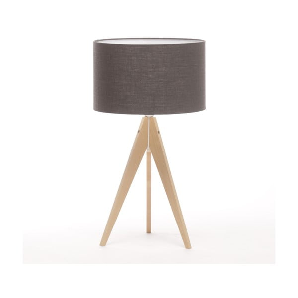 Stolní lampa Arist Dark Grey/Natural