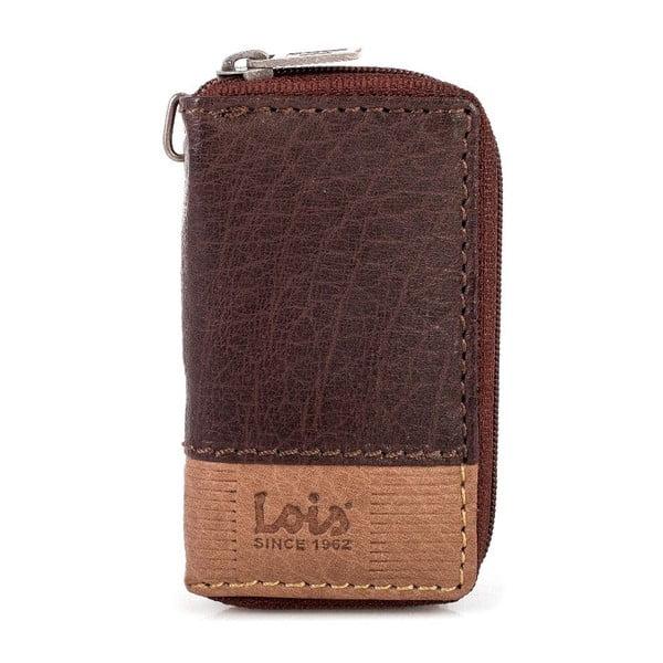 Kožená klíčenka Lois Brown, 5,5x9,5 cm