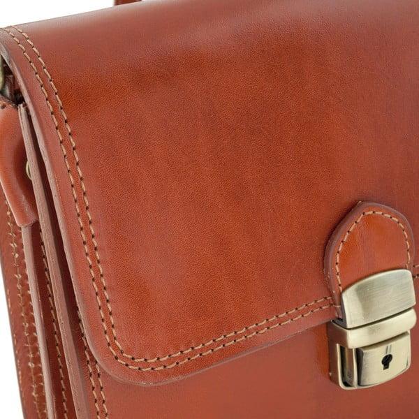 Medově hnědá kožená kabelka Ore Diece Agrigento