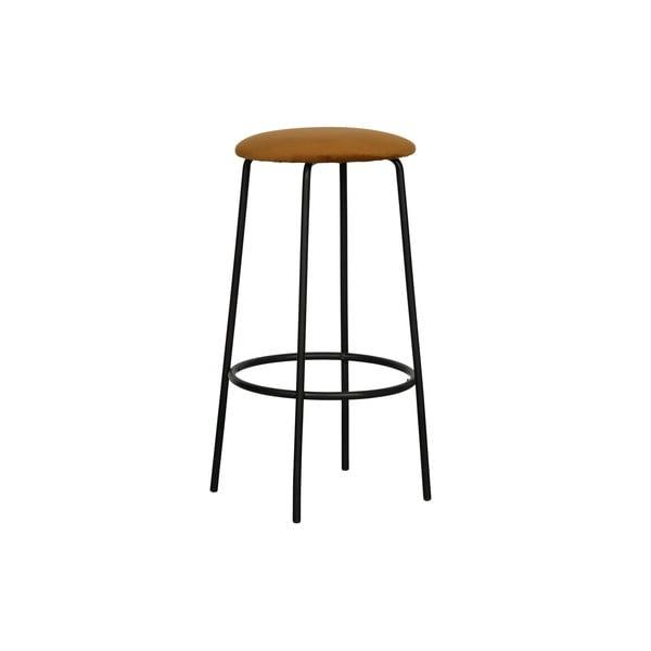 Okrově žlutá barová židle WOOOD Mina