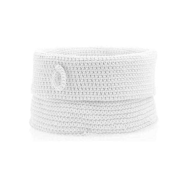 Bílý úložný košík Zone Confetti, ⌀19 cm