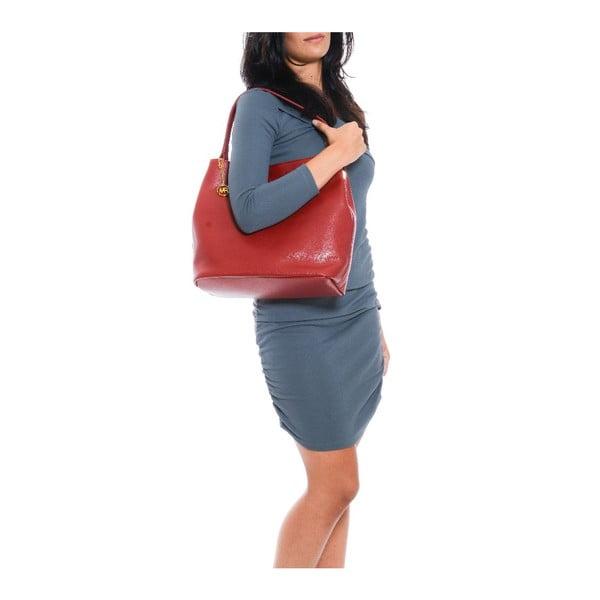 Kožená kabelka Vittoria, červená