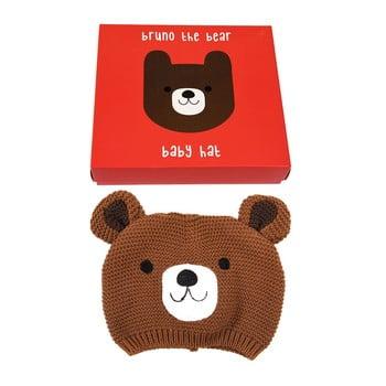 Căciulă din 100% bumbac pentru copii cu model cu urs Rex London imagine