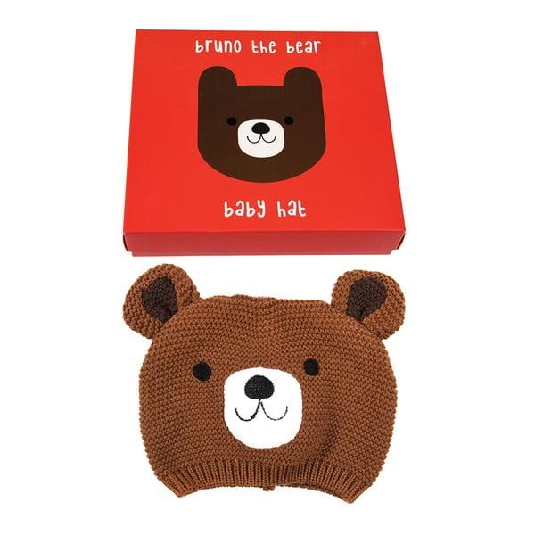 Căciulă din 100% bumbac pentru copii cu model cu urs Rex London