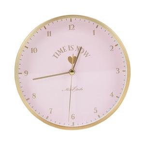 Růžové hodiny Miss Étoile Eyes, ø 42 cm