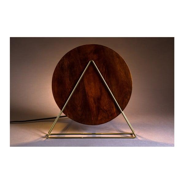 Červená stolní lampa Dutchbone Louis