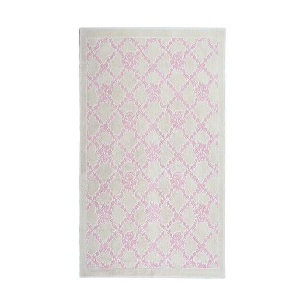 Pudrový  bavlněný koberec Floorist Samasik, 80x300cm