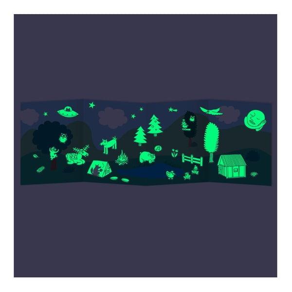Samolepky svítící ve tmě Nature (100 ks)