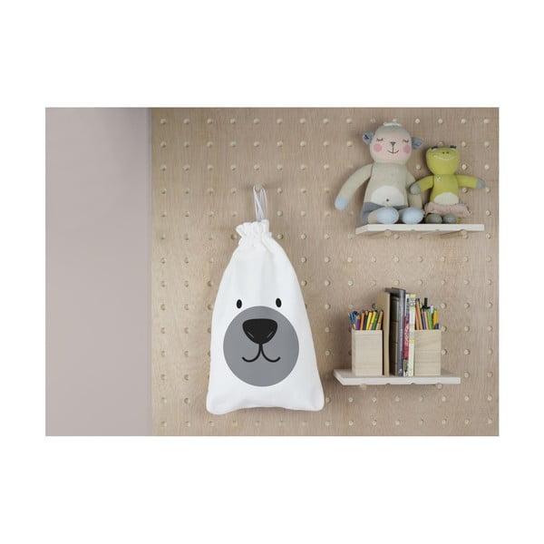 Látkový úložný vak Little Nice Things Polar Bear